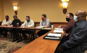 A photo of members of the IAM Local 387 Negotiating Committee.