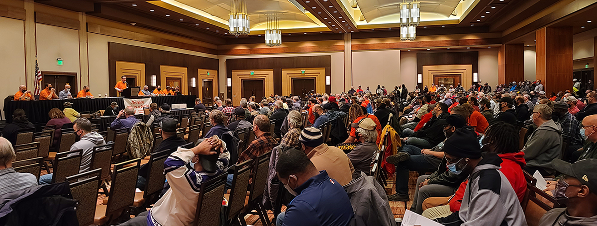 Members of IAM Local 387 voting on a new contract at Ameristar Casino.