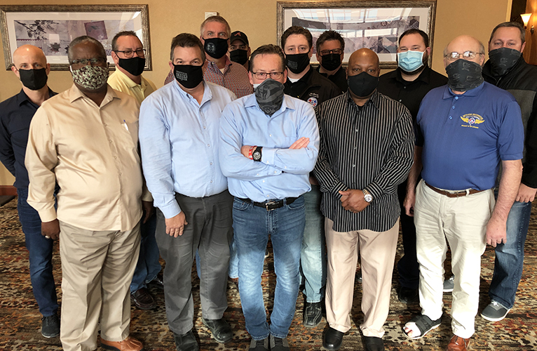 A photo of the IAM Local 387 negotiating committee.